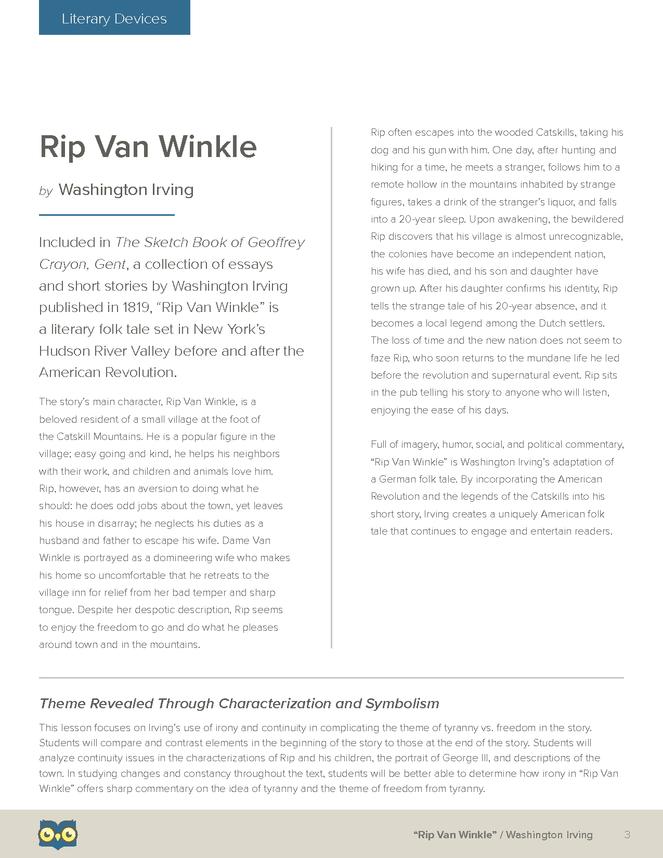 irony in rip van winkle Posts about rip van winkle written by jeffrey melton.