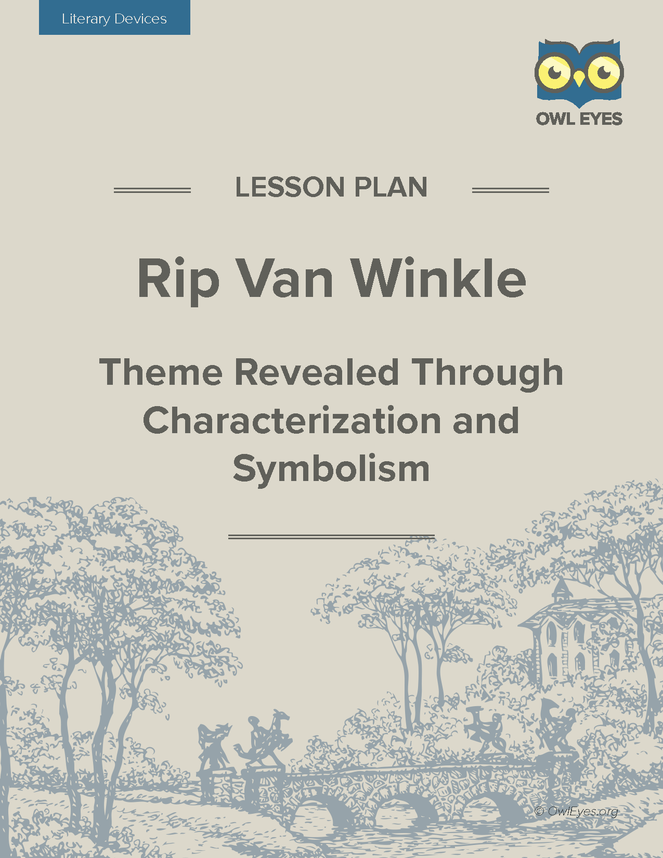 rip van winkle essay themes The story of rip van winkle, by washington irving, tells the tale of the protagonist, rip van winkle, and his trip to the future although he didn't encounter any robots, he was in a whole new world and yet he didn't realize it at first.