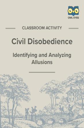 Civil Disobedience Allusion Activity