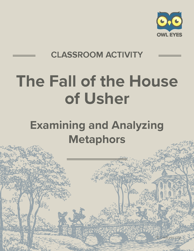 The Fall Of The House Of Usher Metaphor Activity Owl Eyes
