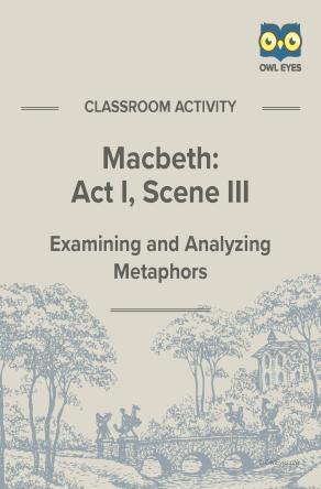 Macbeth Act I Scene III Metaphor Activity