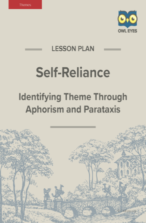 Self-Reliance Themes Lesson Plan