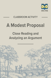 Cover image for A Modest Proposal Argument Analysis Activity