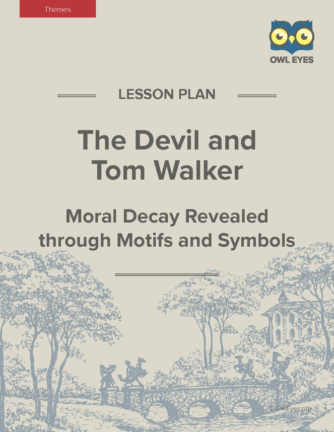 similar symbolisms between the devil and The devil urges him onward, however, telling him we are but a little way in the forest, yet (405), and convincing him that there will still be the opportunity to turn back after hearing the devil out.